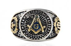 stocklot - Stainless Steel Masonic Ring