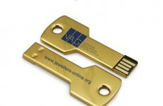 stocklot - Colourful Stainless Steel Key USB Flash Drives