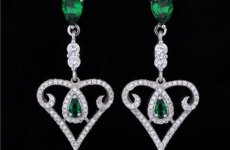 stocklot - Fashion Crystal 925 Sterling Silver Earring For Women