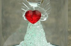 stocklot - Christmas Tree Decoration Glass Angel Ornaments